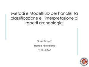 Presentazione di Bianca Falcidieno e Silvia Biasotti in formato pdf
